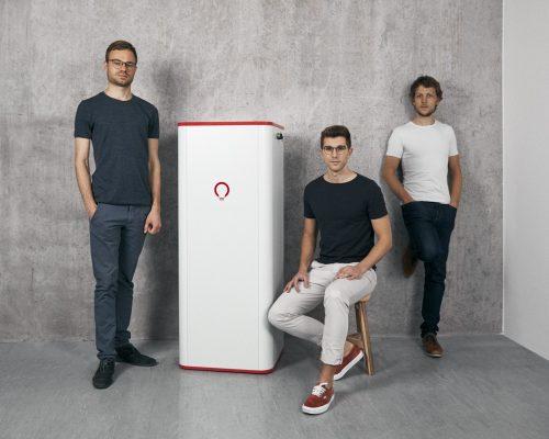 VoltStorage Gründer Jakob Bitner, Felix Kiefl, Michael Peither